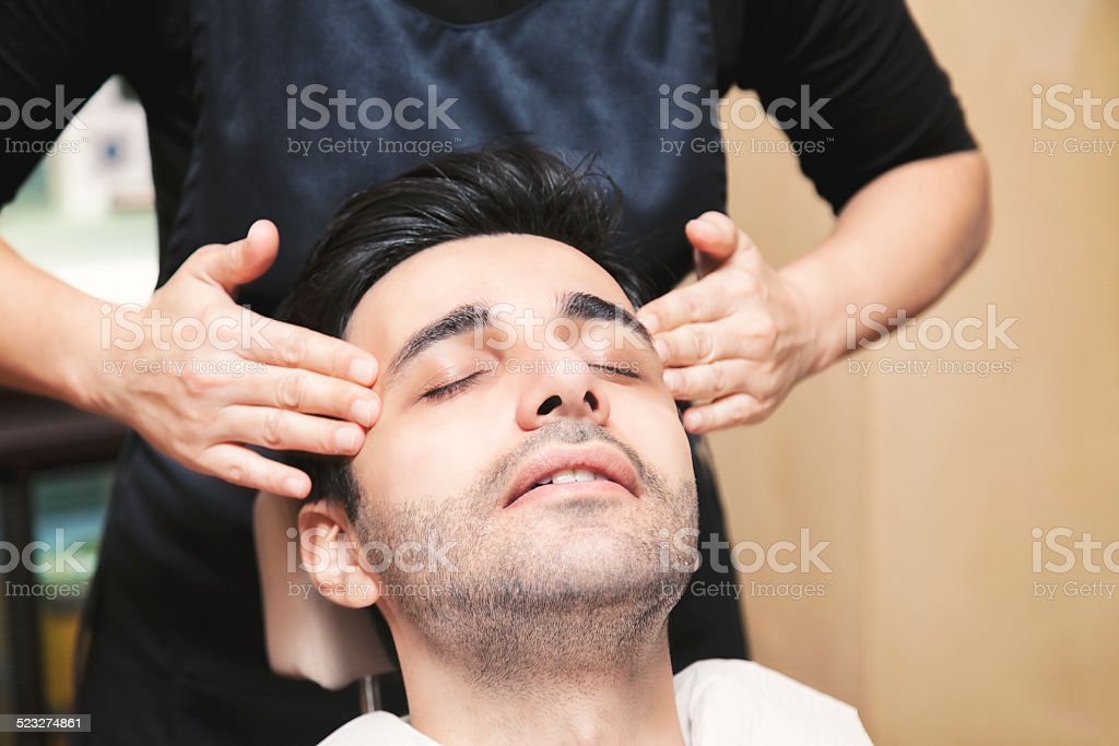 Skin Care for Men stock photo