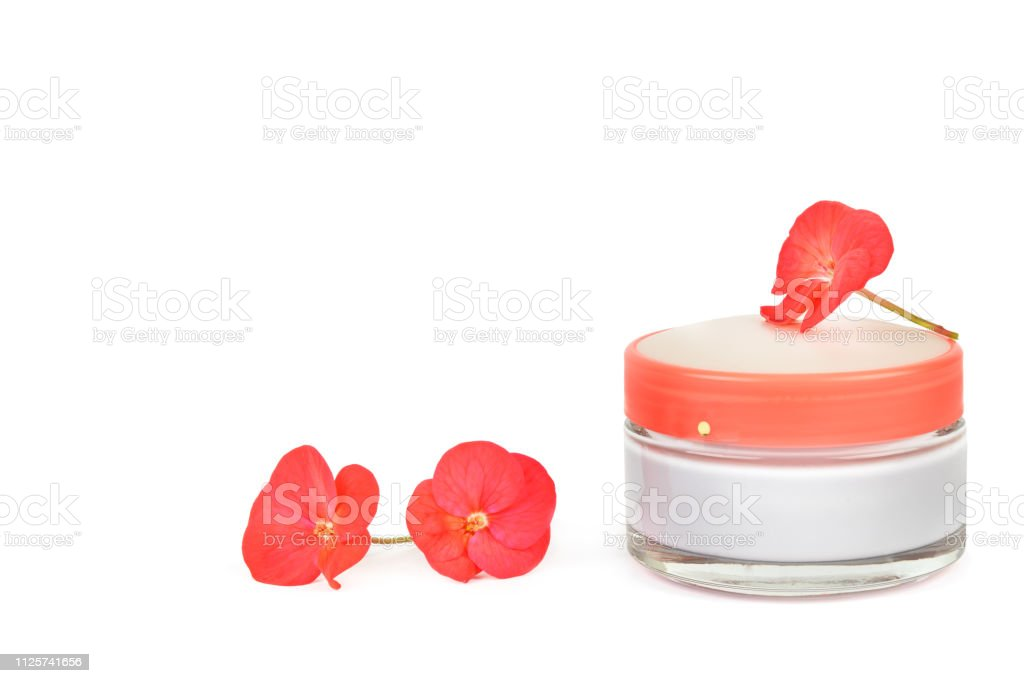 Skin Care For The Face Cosmetic Cream In A Stylish Jar Isolated On White Background Stock Photo Download Image Now Istock