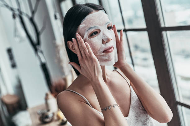 skin care. - chemical peel stock pictures, royalty-free photos & images