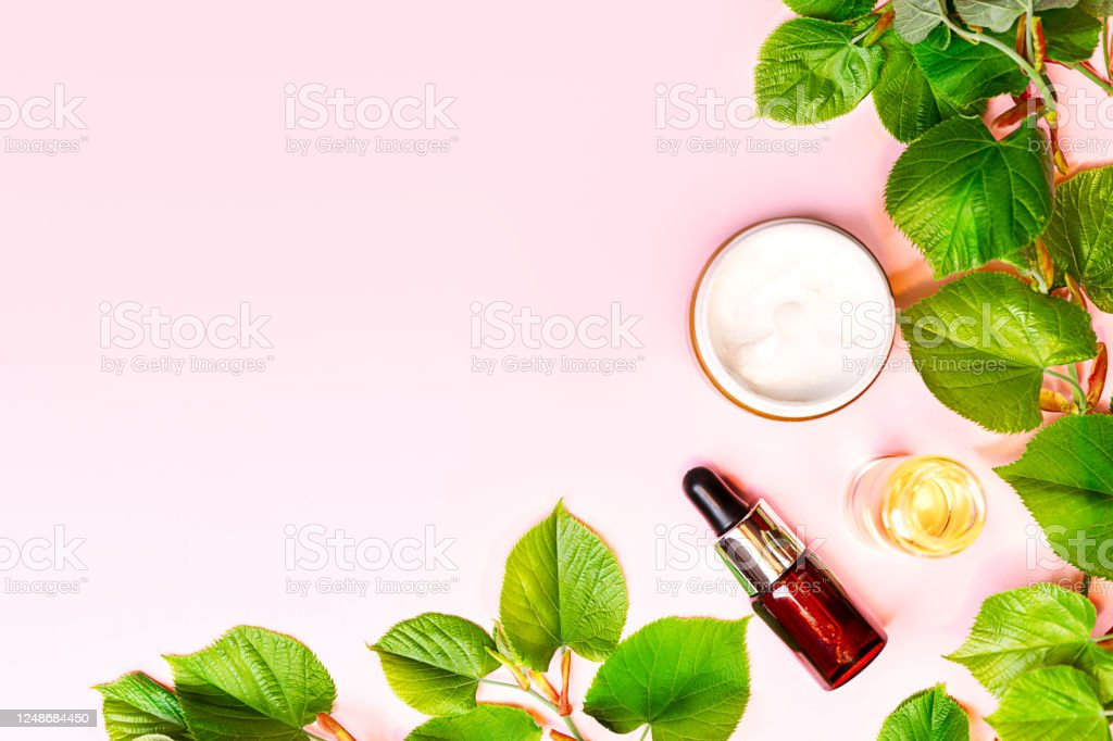 Skin Care Products Natural Cosmetic Flat Lay Image On Pink Background Stock Photo Download Image Now Istock
