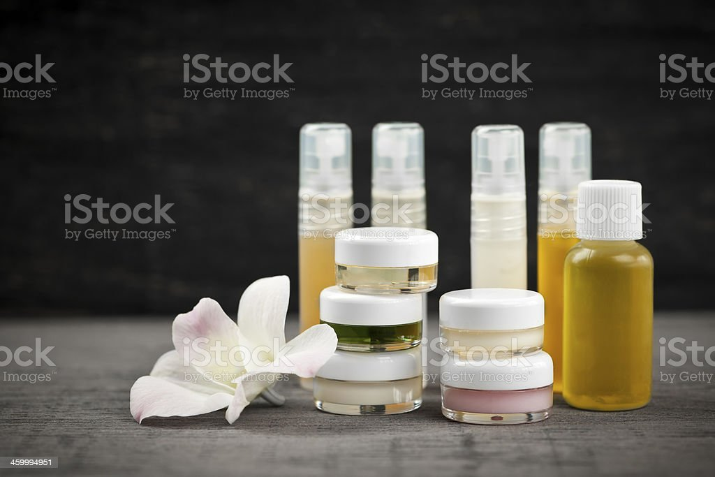 Skin care products stock photo