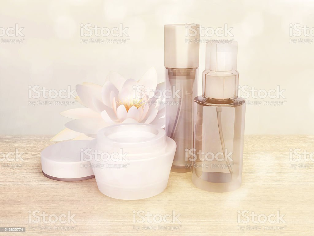 Skin Care Products With Lotus Flower Stock Photo More Pictures Of