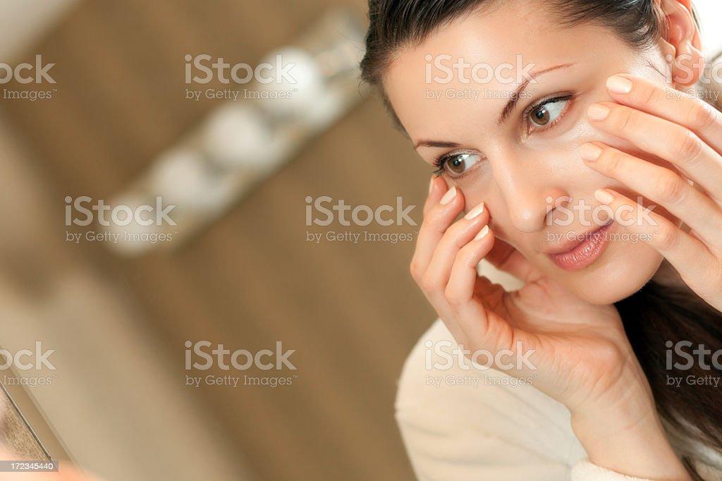 Skin care regimen royalty-free stock photo