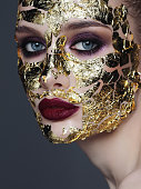 Skin care treatment with golden foil