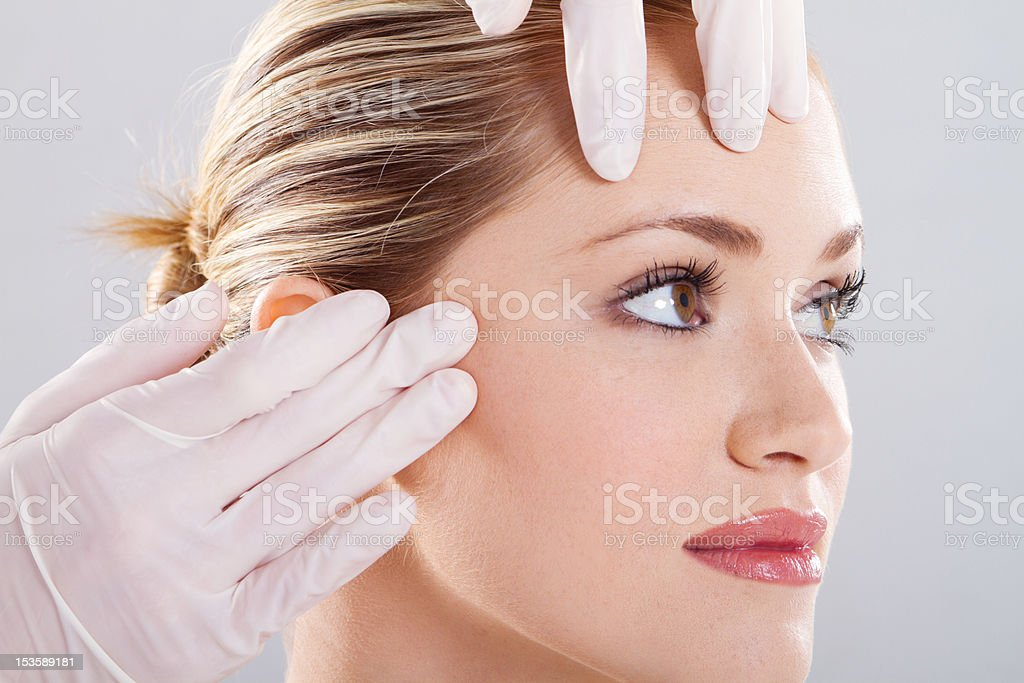 skin check before plastic surgery royalty-free stock photo