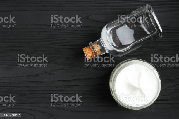 Skin Cream And Glycerin Stock Photo - Download Image Now