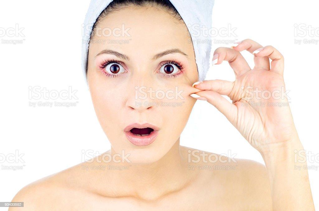 Skin elastic royalty-free stock photo