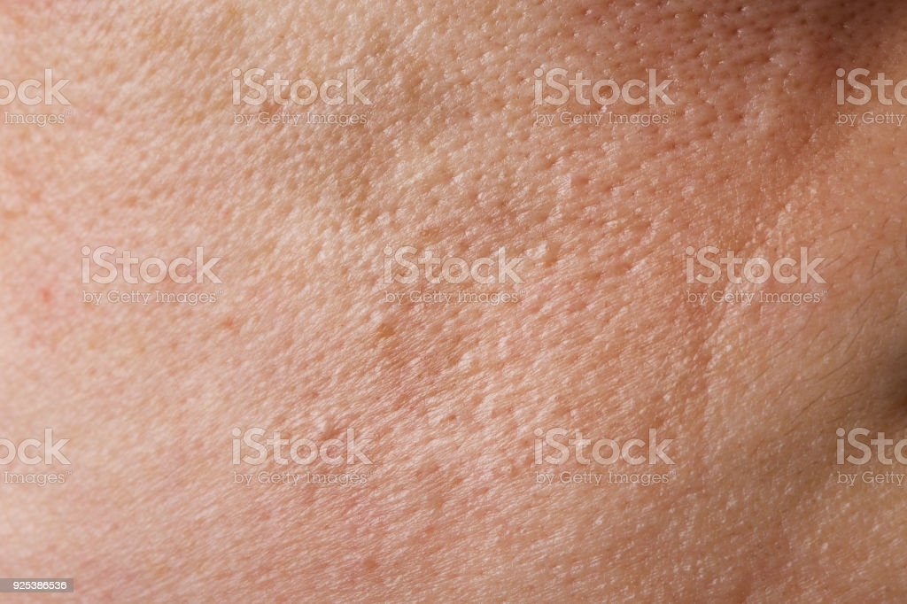 Skin of young lady between 30 and 35 years old. stock photo