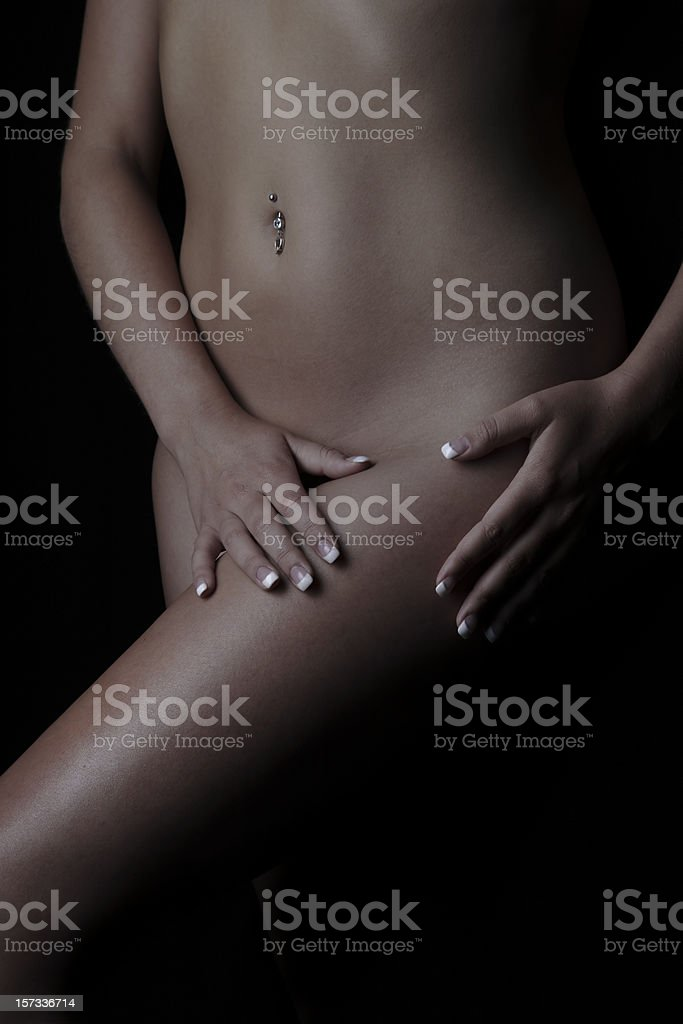 Skin Portraits Thigh royalty-free stock photo