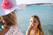 istock Skin protection at the beach 1127843078