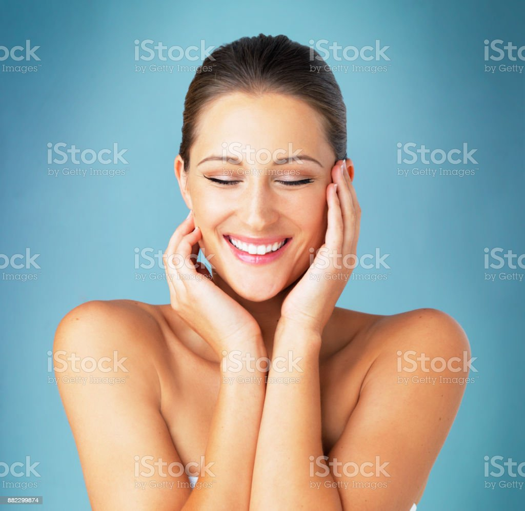 Skin that's magically soft stock photo