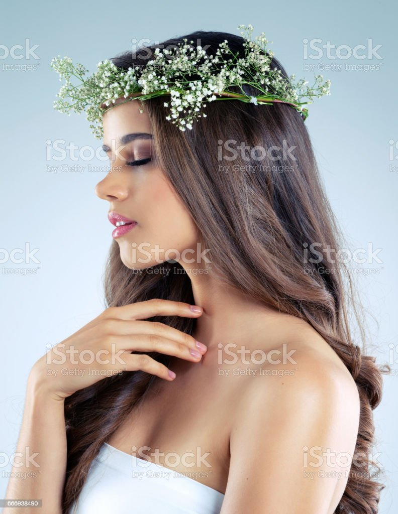 Skin that's so soft, so supple, so touchable stock photo