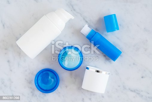 istock Skincare beauty products flatlay 860281266