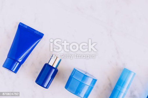 istock Skincare beauty products flatlay 870624752