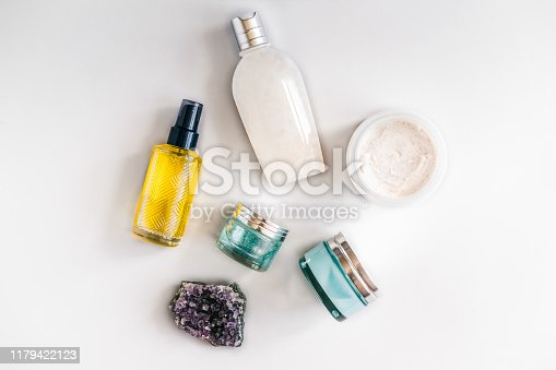 istock Skincare beauty products from above 1179422123