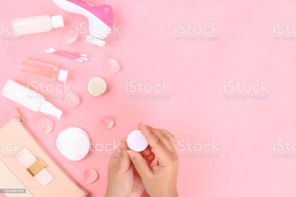 Skincare Schönheit Behandlung Produkte Auf Pflanzlicher Basis Mit