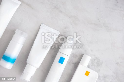 istock Skincare cosmetic products from above 831429804