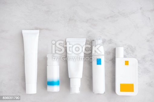 istock Skincare cosmetic products from above 836051790