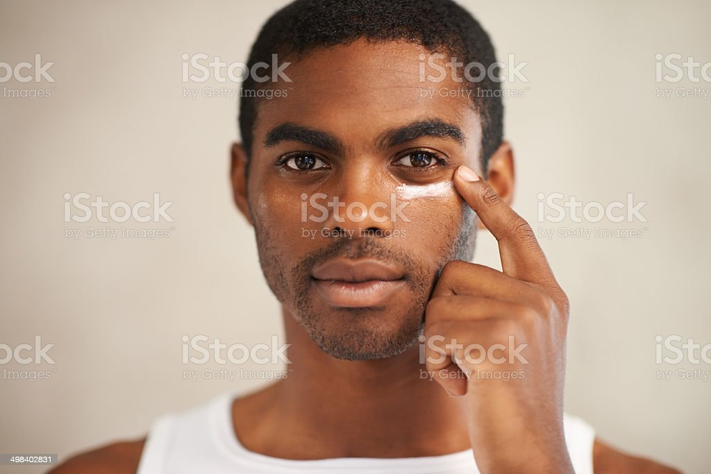 Skincare for the modern man stock photo