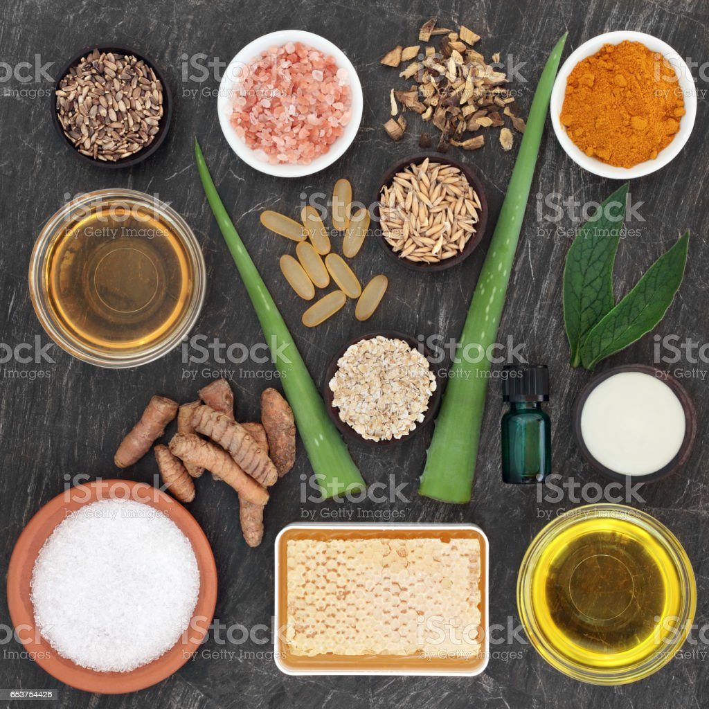 Skincare Ingredients for Skin Disorders stock photo