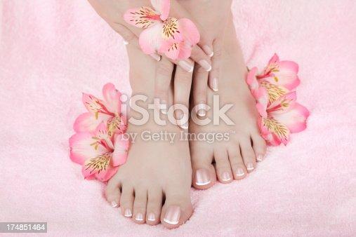 istock Skincare of a beauty female feet 174851464