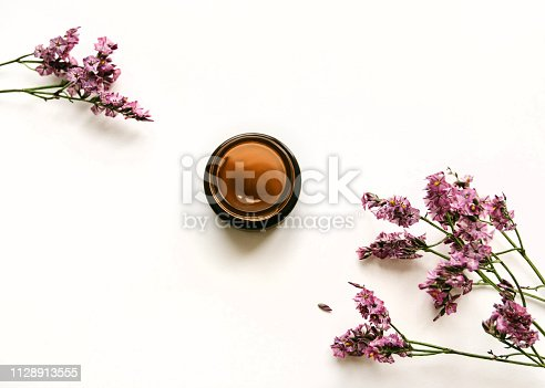 1128479585 istock photo Skincare product Top view photo 1128913555