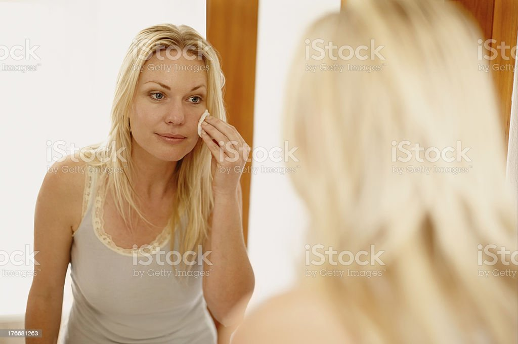 Skincare routine royalty-free stock photo