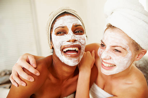 Skincare that keeps us looking young and fresh stock photo