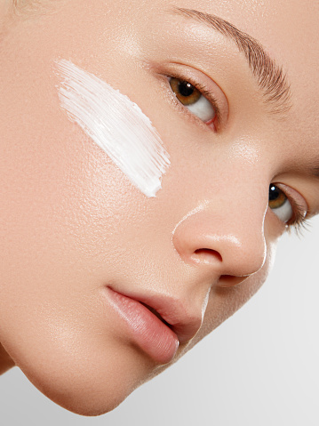 1151624350 istock photo Skincare, Wellness, Spa. Clean soft Skin, healthy Fresh look. The concept of a healthy skin. Portrait of a beautiful gir. Spa concept. Natural beauty 1053902642