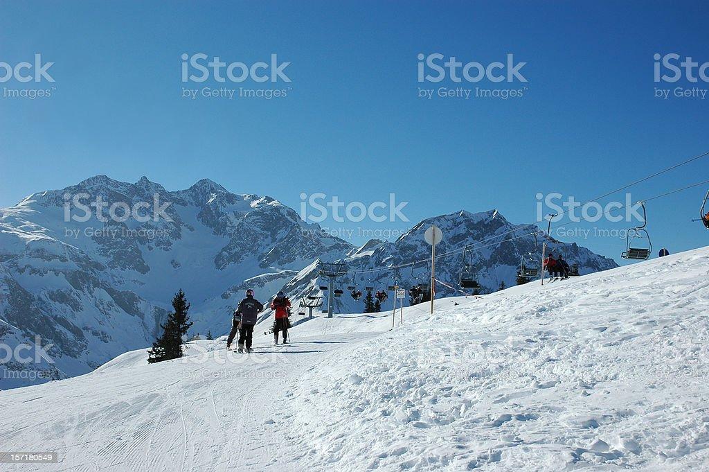 Skinig in Austria royalty-free stock photo