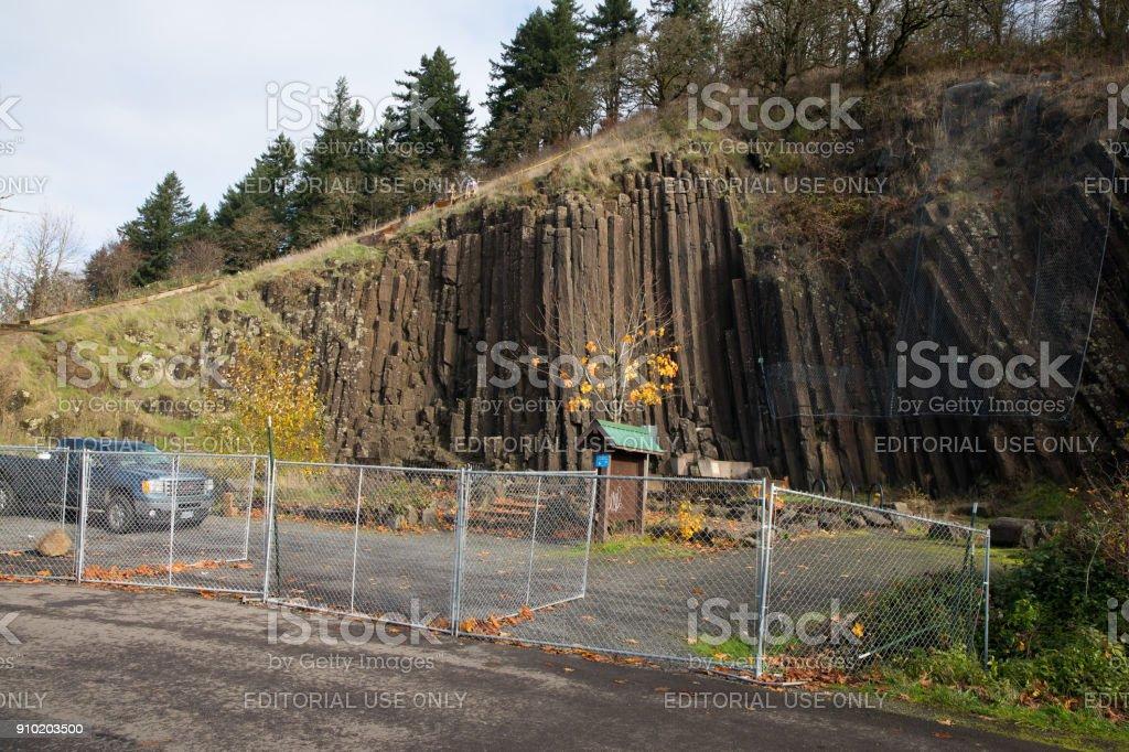 Skinners Butte Rock Climbing Path Updates stock photo
