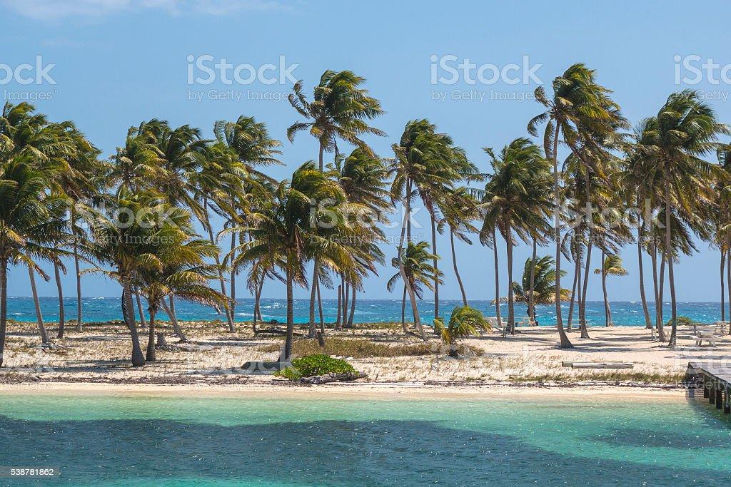 Skinny island stock photo