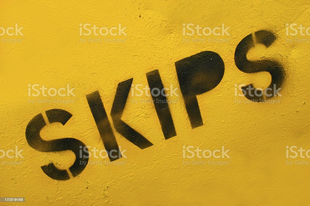 Skip - builders construction site royalty-free stock photo