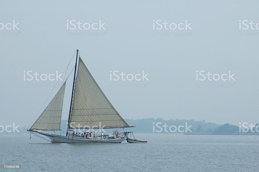 Skipjack Off St. Michaels stock photo