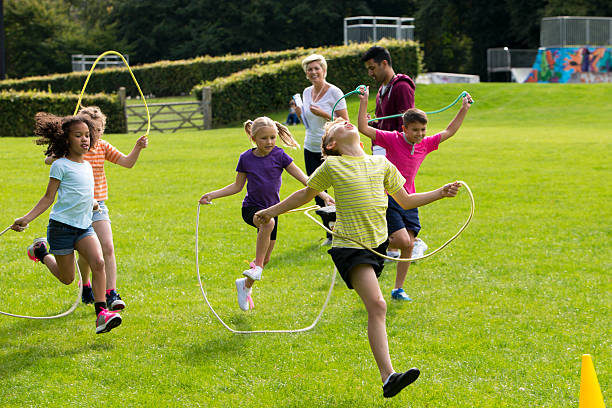 Skipping Rope Race stock photo