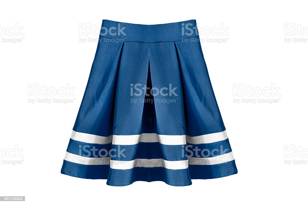 Skirt on white stock photo