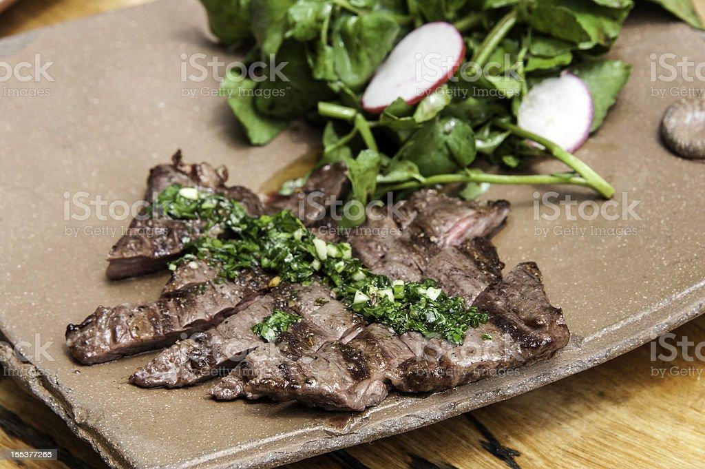 skirt steak stock photo