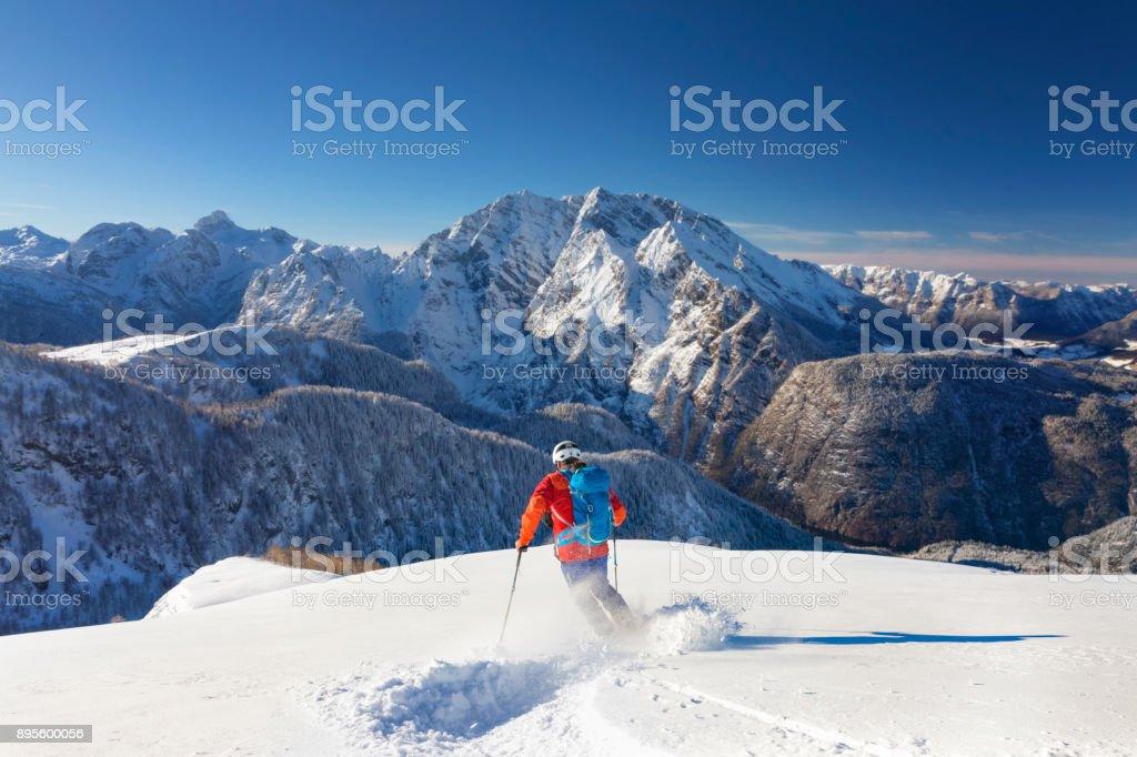 Skitouren-Abfahrt - Tiefschneefahren am Watzmann - Nationalpark Berchtesgaden – Foto