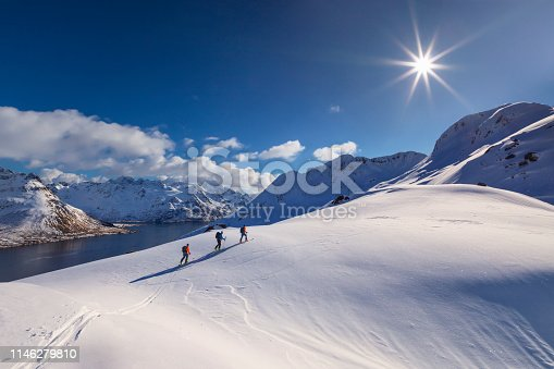 Back country Ski touring in Norway, Lofoten