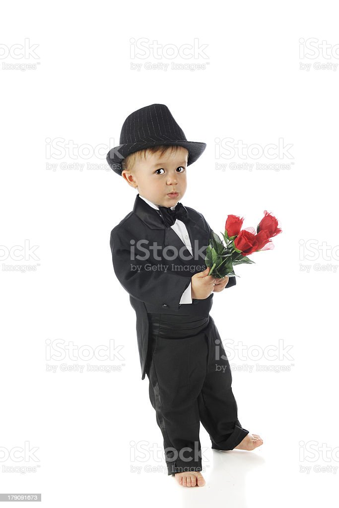 Skittish About His Date royalty-free stock photo