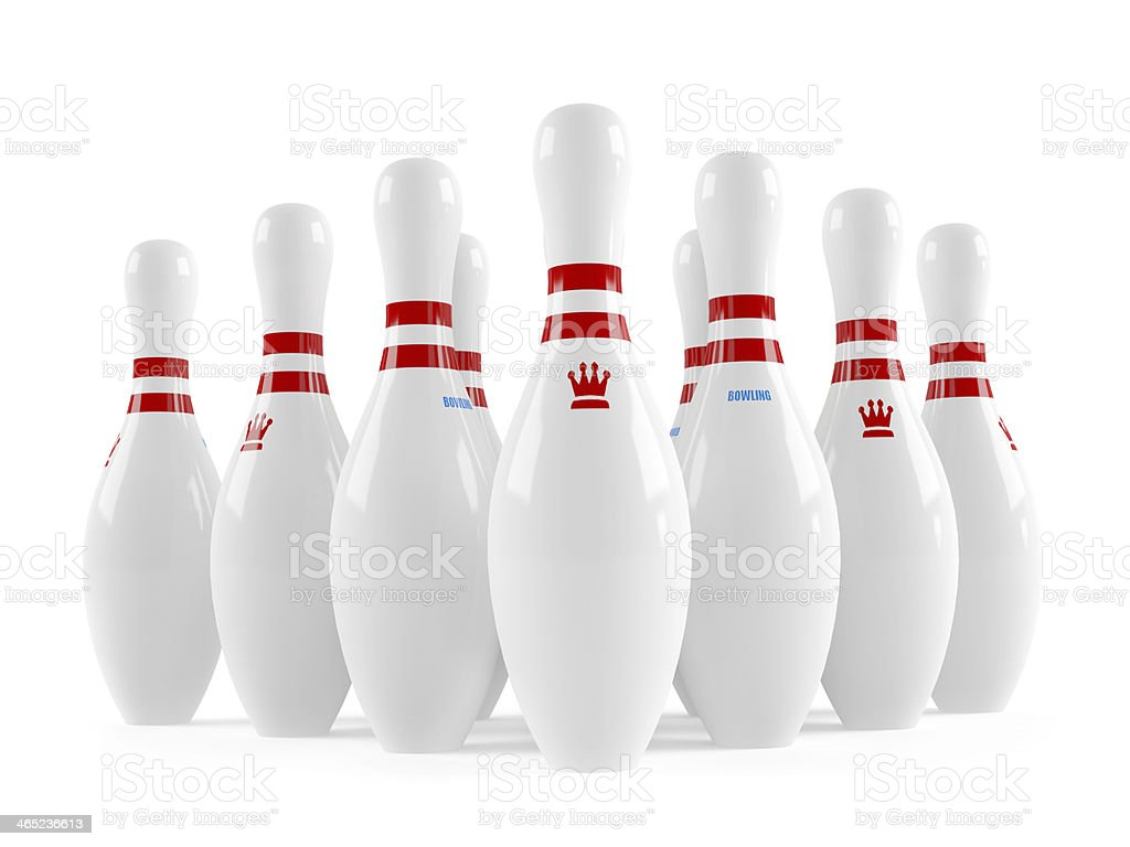 Skittles bowling isolated stock photo