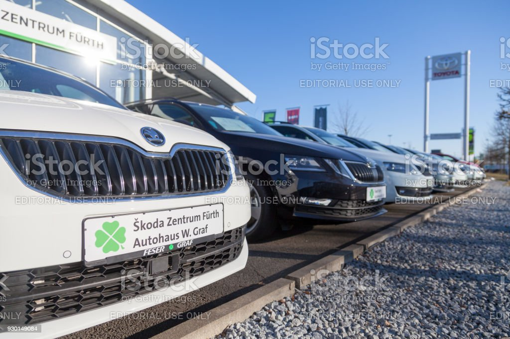Skoda Logo On A Skoda Car At A Car Dealer In Germany Skoda Is A Czech Automobile Manufacturer Founded In 1895 As Laurin And Klement Stock Photo Download Image Now Istock