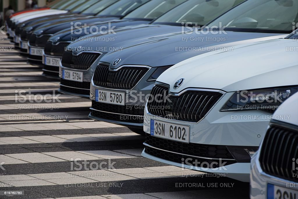 Skoda Superb Cars On The Parking Stock Photo Download Image Now Istock