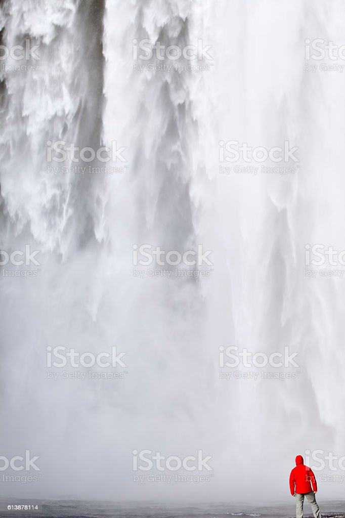 Skogafoss stock photo
