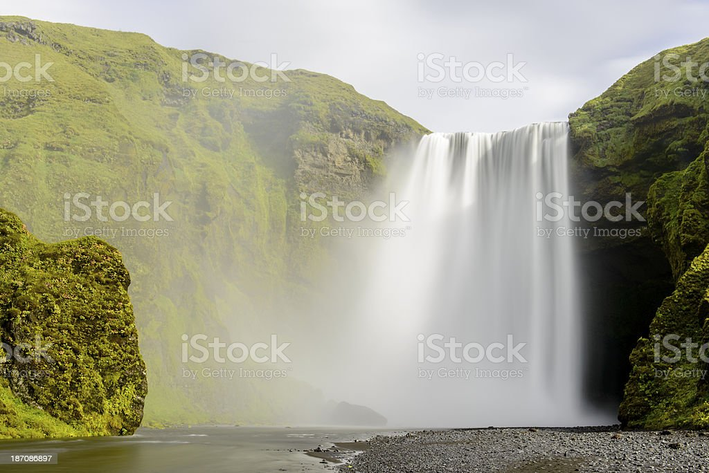 Skogafoss waterfall royalty-free stock photo