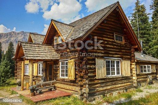Lake Louise, Alberta, Canada - September 7, 2018:  Skoki Ski Lodge, a National Historic Site of Canada, built in 1930 in the Skoki Valley of Banff National Park
