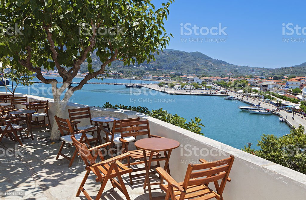 Skopelos island in Greece stock photo