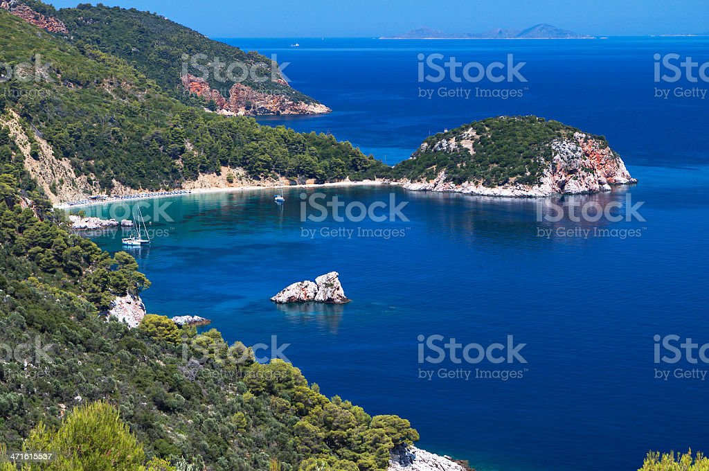 Skopelos island in Greece royalty-free stock photo