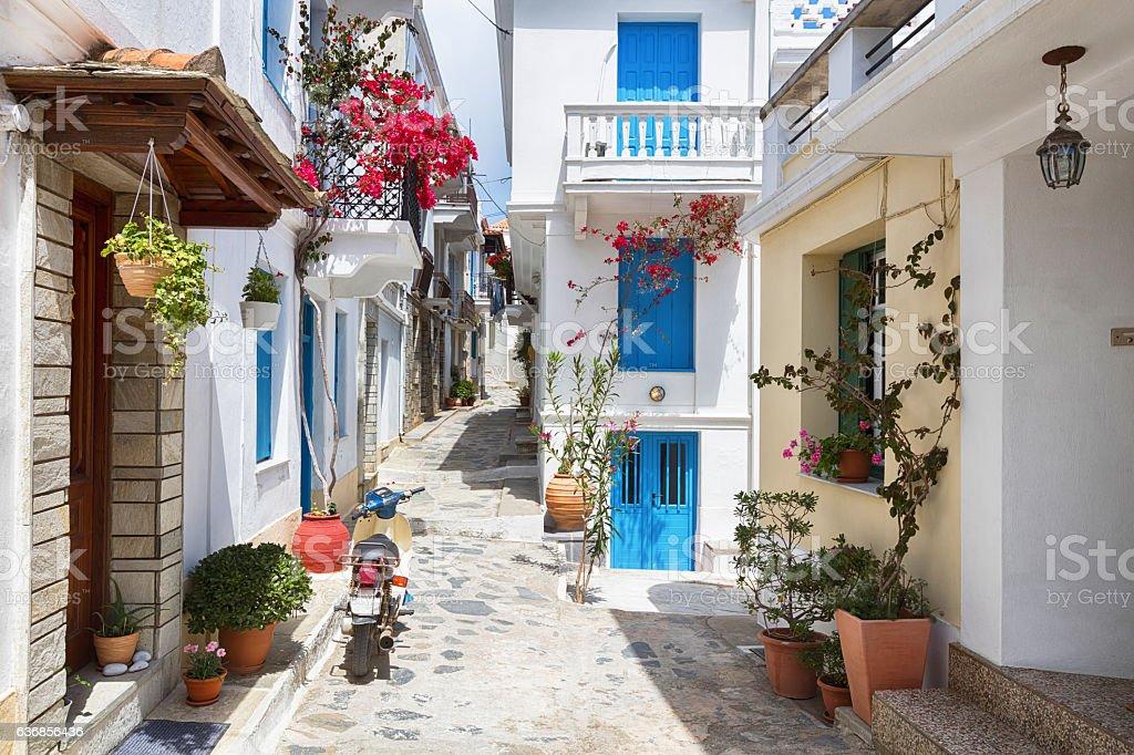 Skopelos stock photo