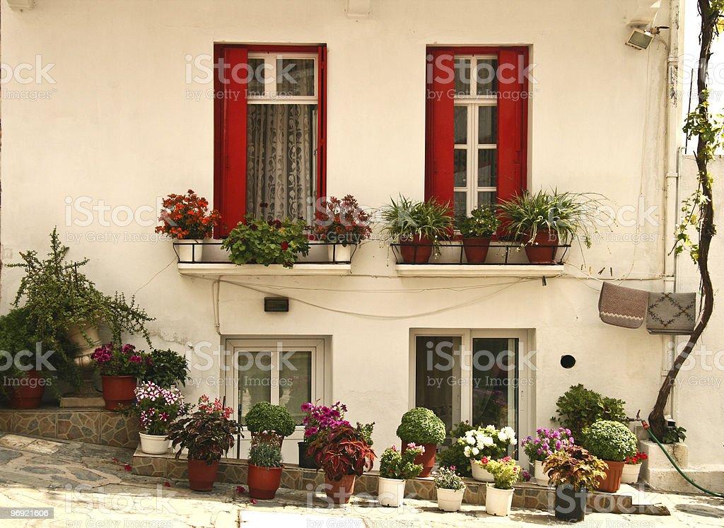 Skopelos Town House royalty-free stock photo